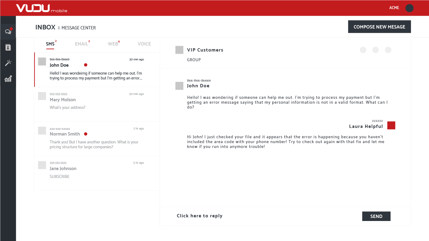 Multi Channel Messaging for Businesses - SMS, Email & Live Chat